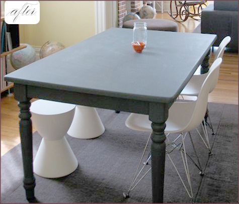 Painting A Dining Room Table With Chalkboard Paint Dining Room Sets