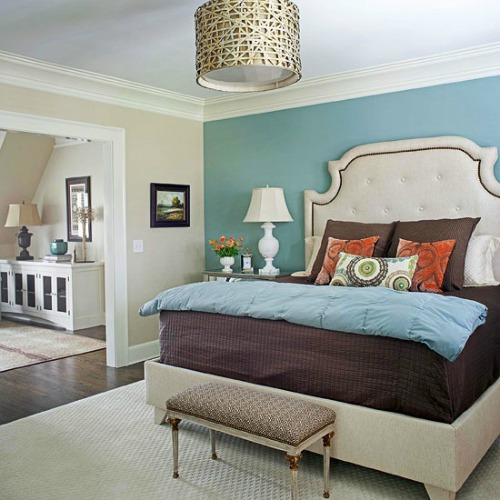 Painting An Accent Wall In Bedroom Large And Beautiful