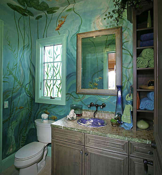 painting ideas for bathrooms photo - 1