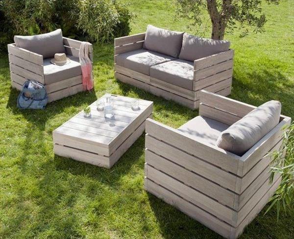 pallet backyard furniture photo - 2