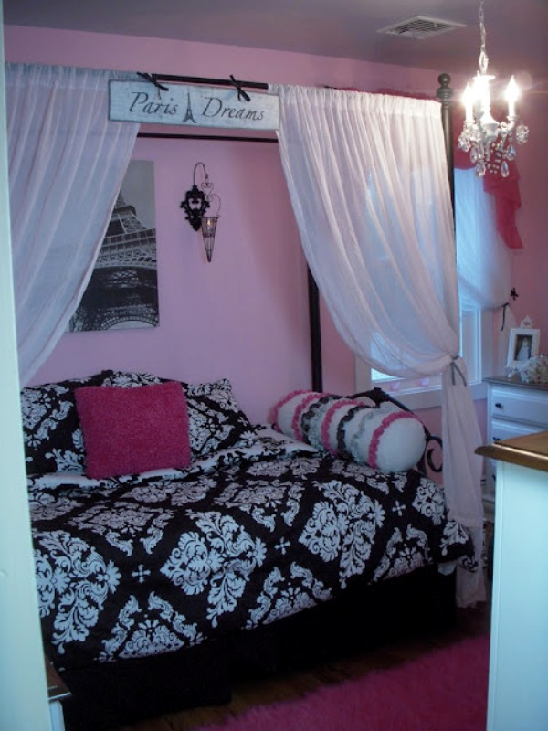 parisian themed bedroom for girl photo - 2