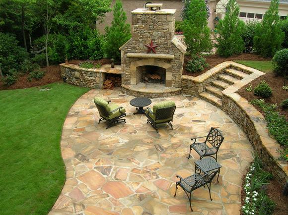 patio backyard design photo - 2
