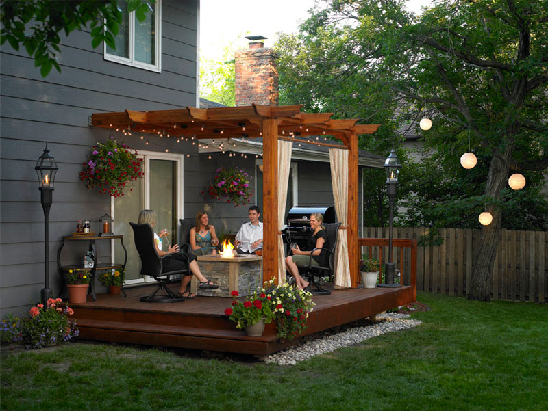 pergola backyard ideas photo - 2