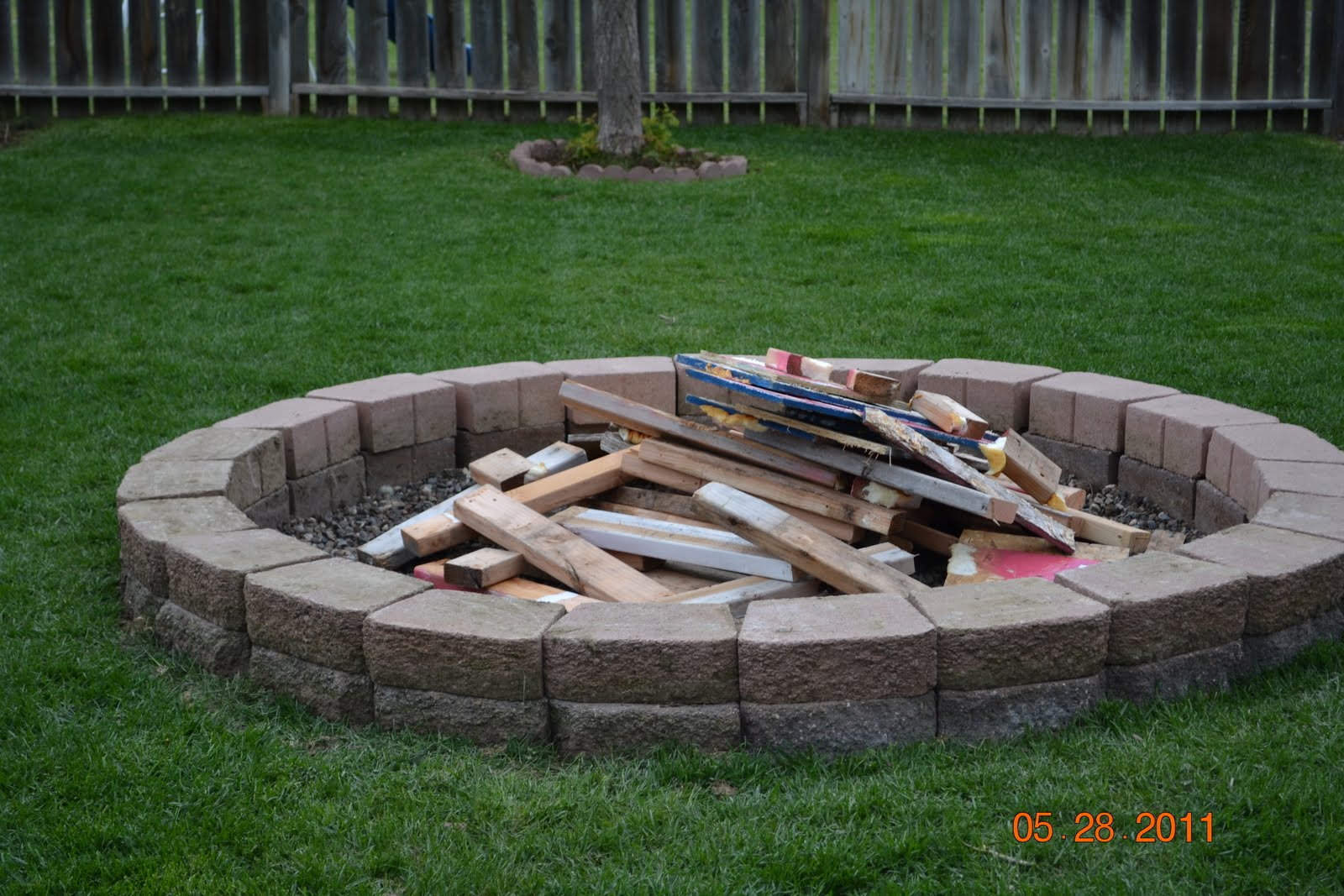 pictures of fire pits in a backyard photo - 2