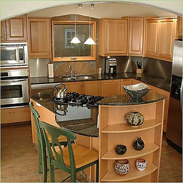 pictures of small kitchen islands photo - 1