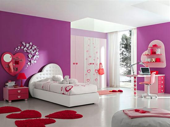 Incroyable Pink And Purple Girls Bedroom