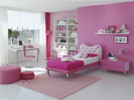 pink bedrooms for girls photo - 2