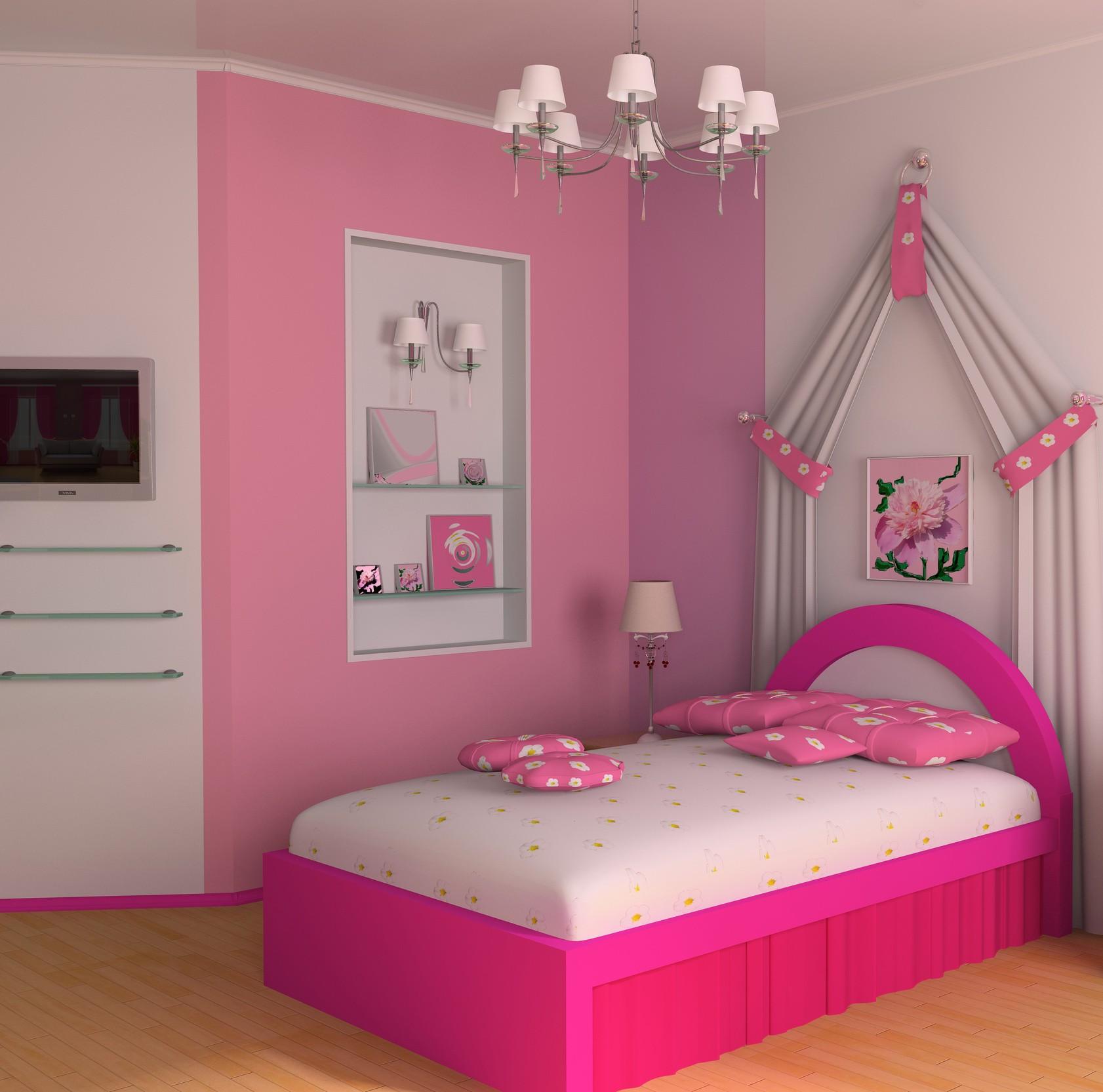 pink girl bedroom photo - 1