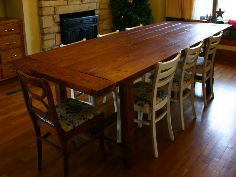 plans for dining room table photo - 2