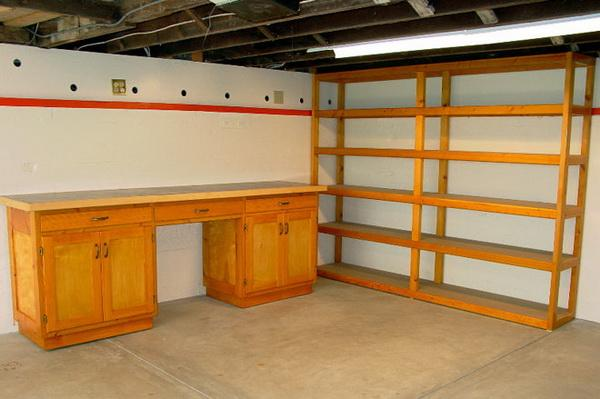 plans for garage shelves photo - 1