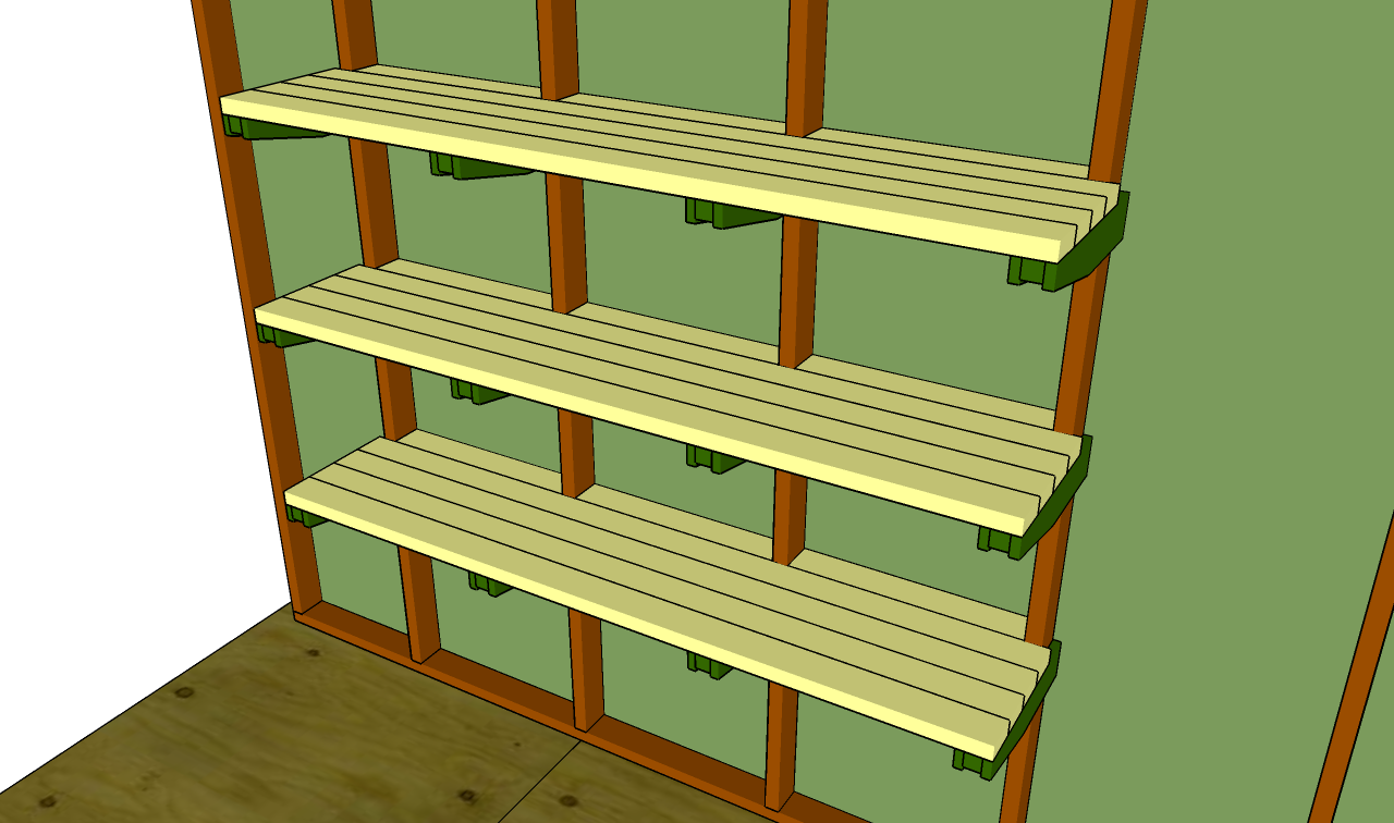 plans for garage shelves photo - 2