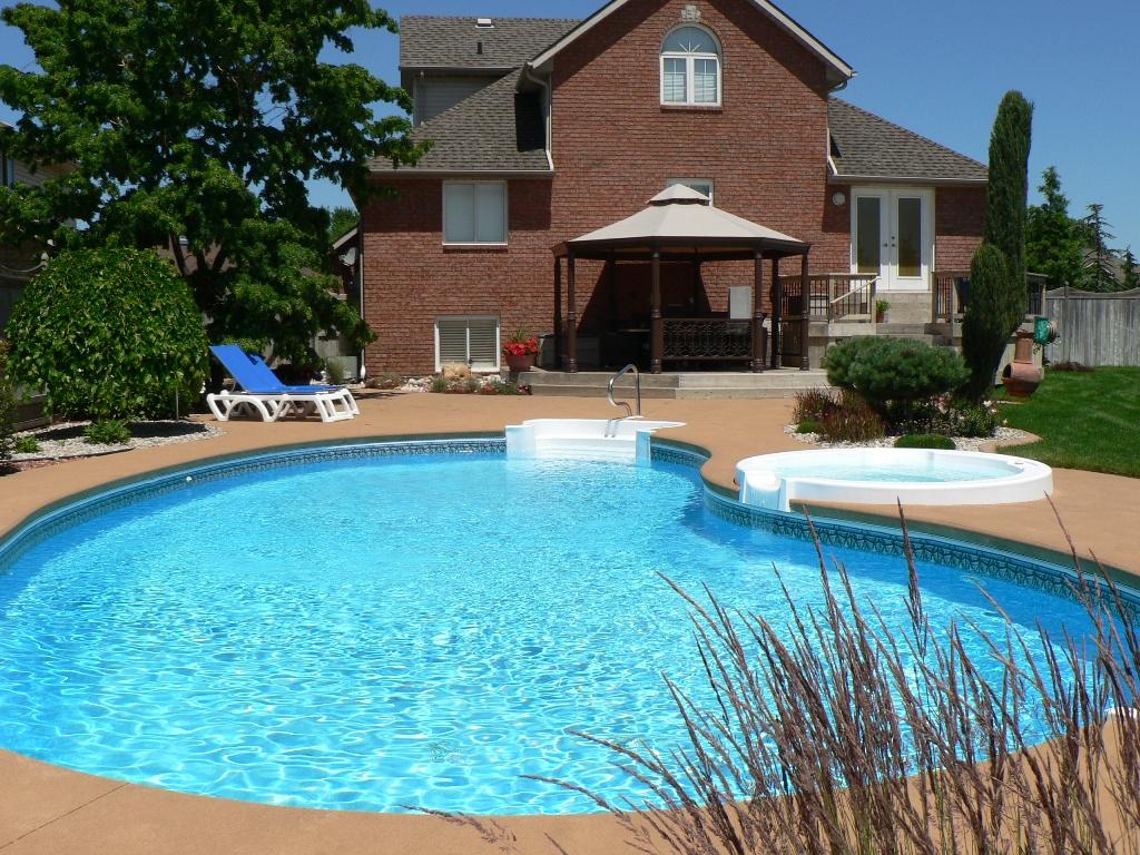 pool in backyard photo - 1