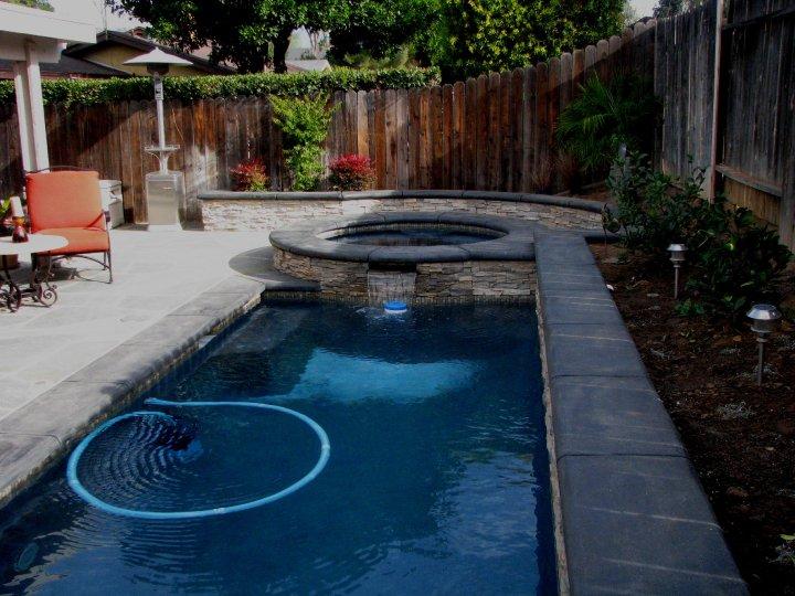 pool in small backyard photo - 2