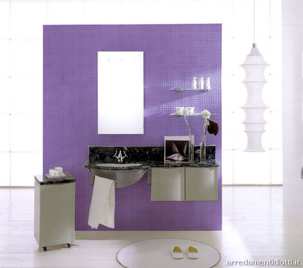 Delightful Purple Bathrooms