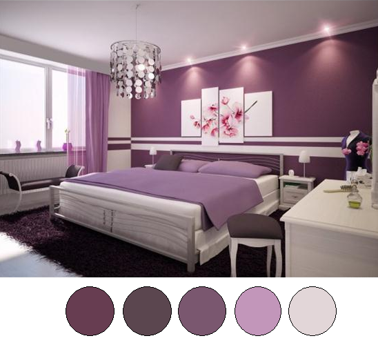 Gentil Purple Bedroom Color Schemes   Large And Beautiful Photos. Photo To Select Purple  Bedroom Color Schemes | Design Your Home