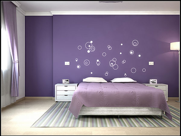 purple bedroom walls photo - 1