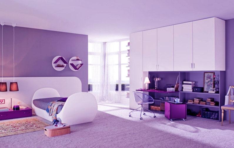 purple bedrooms for girls photo - 1