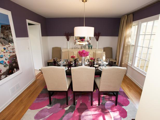 purple dining rooms photo - 1