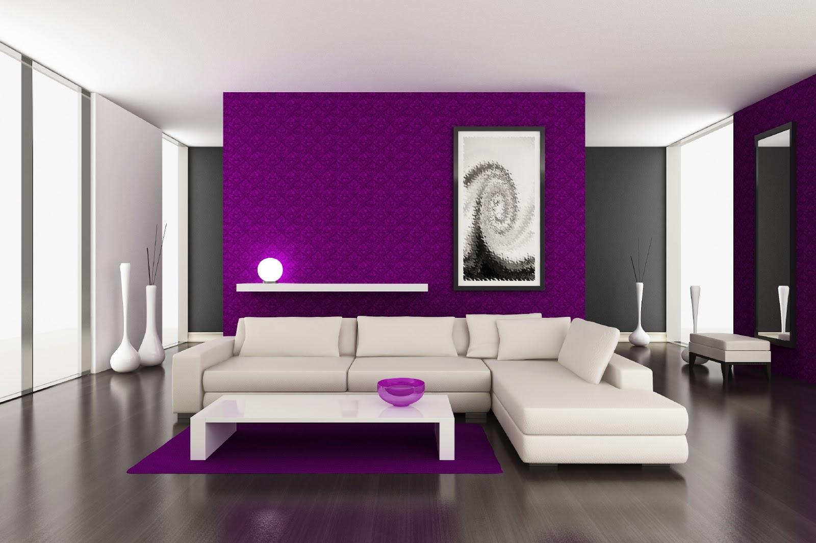 purple dining rooms photo - 2