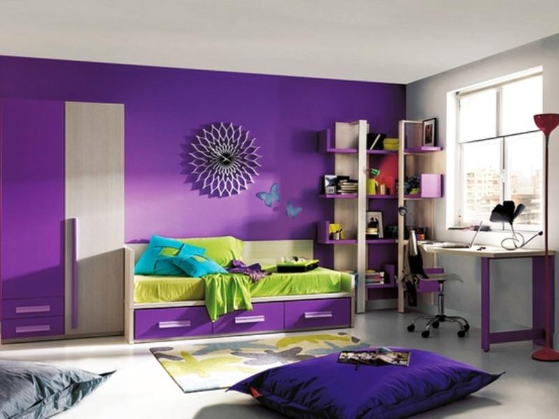 Delightful Purple Bedroom Ideas For Kids Part - 4: Purple Kids Bedroom