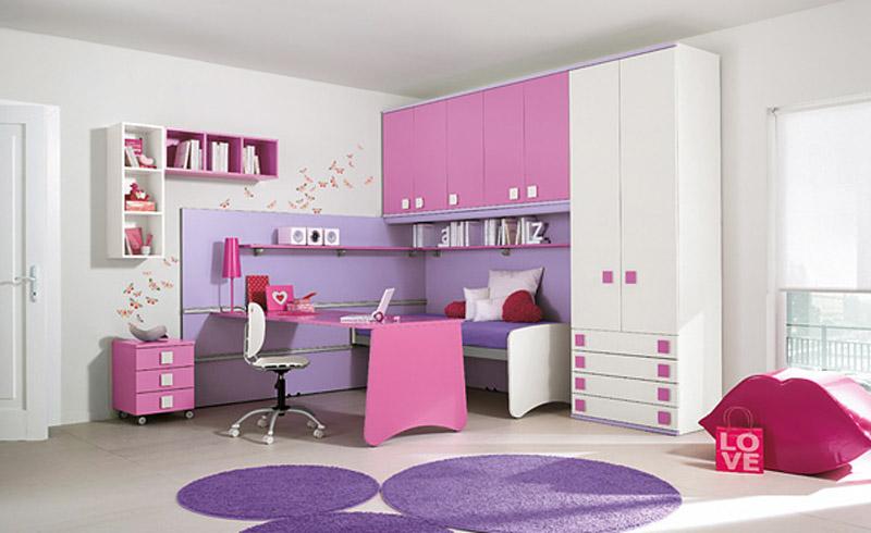 purple kids bedroom photo - 2