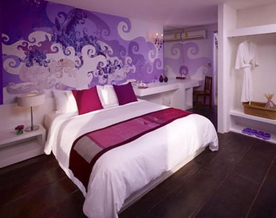purple paint colors for bedrooms photo - 2
