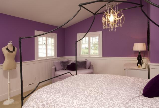 purple teenage bedrooms photo - 1
