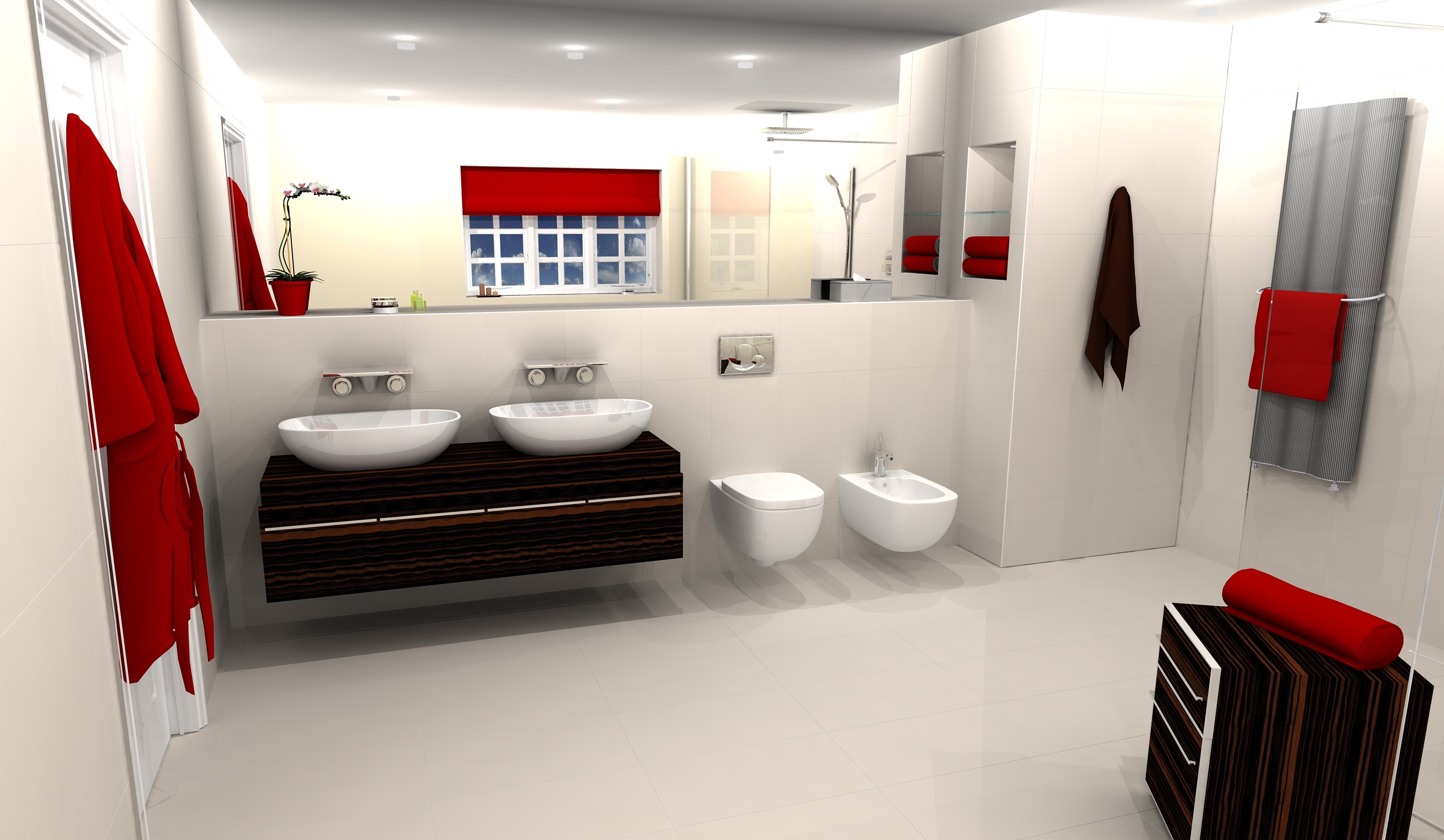 Red bathrooms - large and beautiful photos. Photo to select Red bathrooms | Design  your home