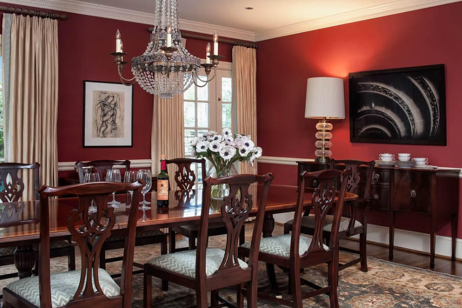 red dining room photo - 1