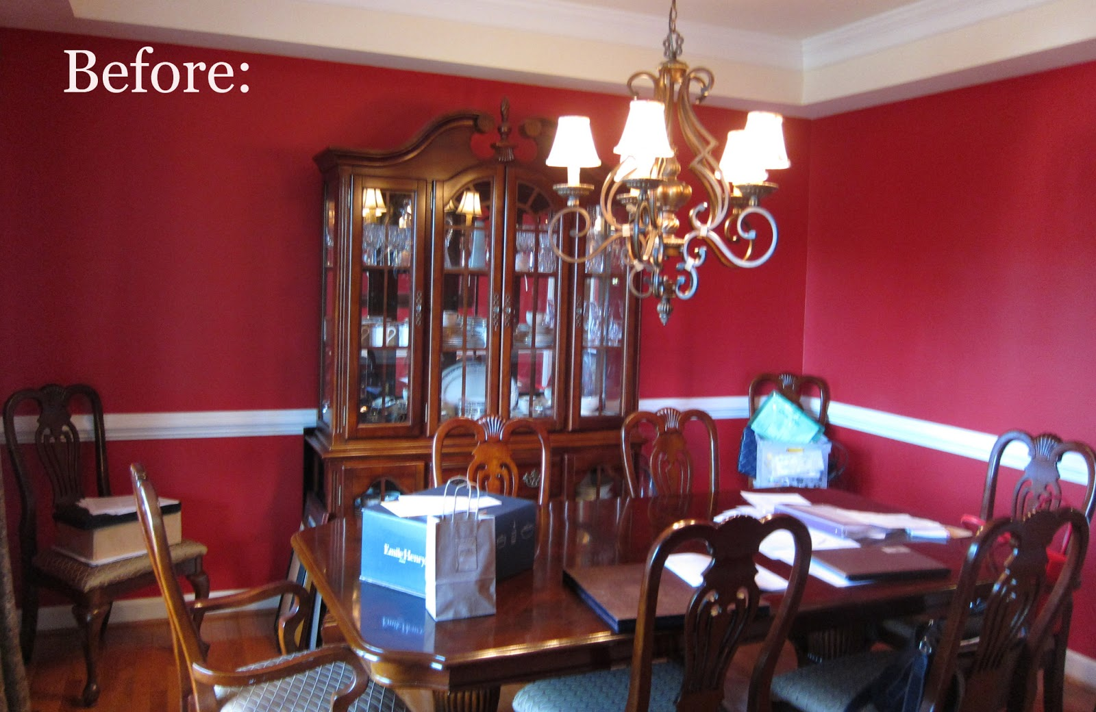red dining room walls photo - 1