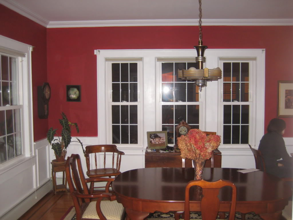 red dining rooms photo - 2