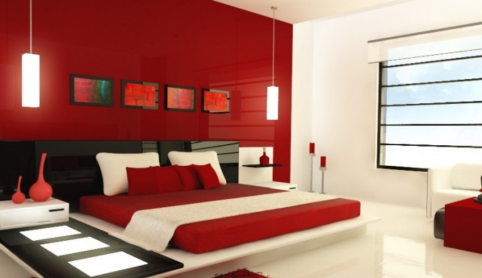 red paint colors for bedrooms photo - 2 .