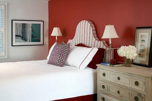 red walls bedroom photo - 1