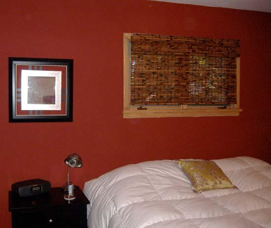 red walls bedroom photo - 2