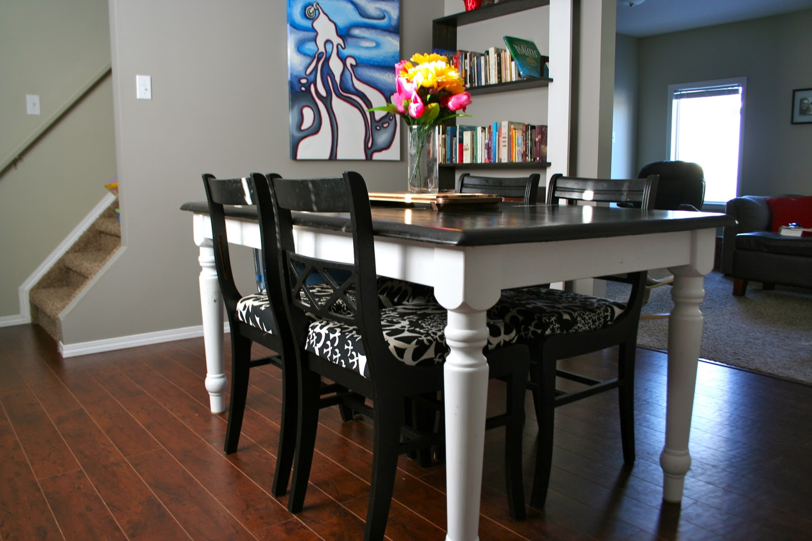 Refinishing dining room table large and