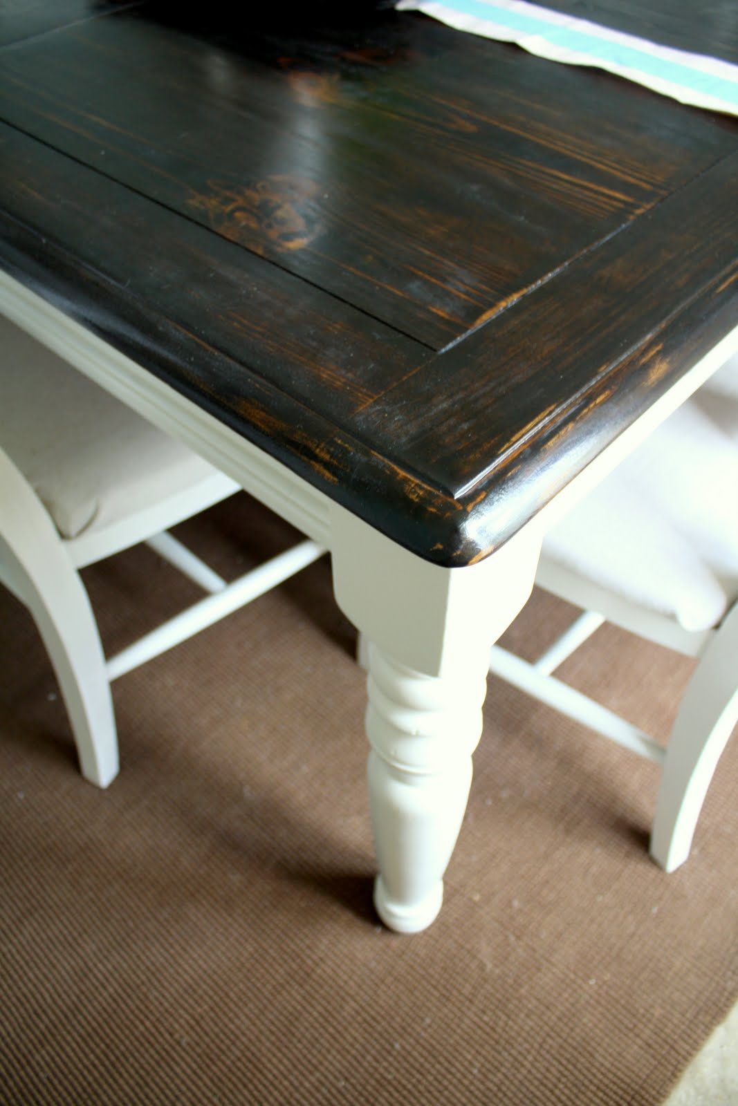 Refinishing dining table large and beautiful