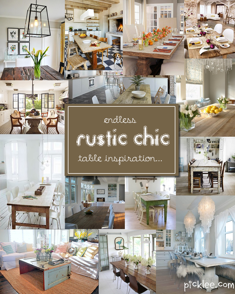 Superb Rustic Chic Dining Table