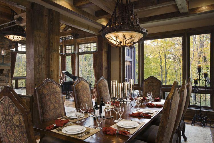 rustic dining room decor photo - 2