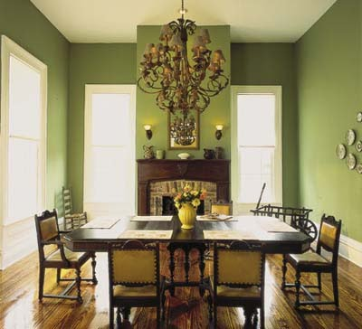 sage green dining room photo - 1