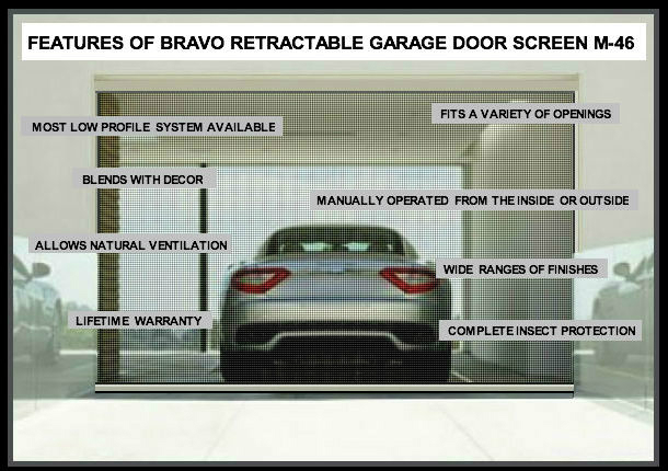 retractable garage door screensScreen door for garage door opening  large and beautiful photos