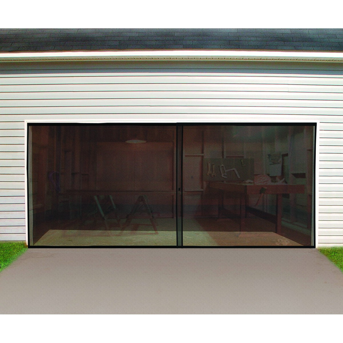 screen for garage door photo - 1