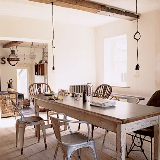shabby chic dining room - large and beautiful photos. photo to