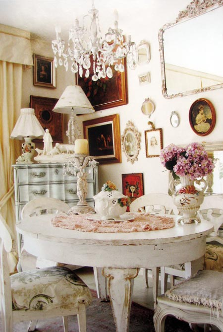 Shabby Chic Dining Room Furniture Photo   2