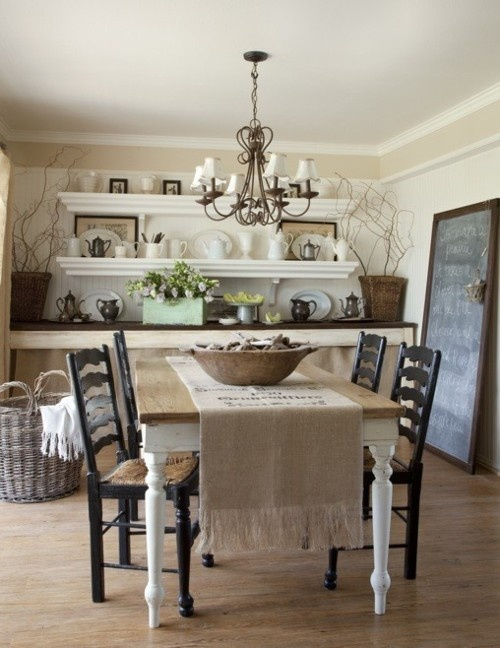 shabby chic dining room tables photo - 1
