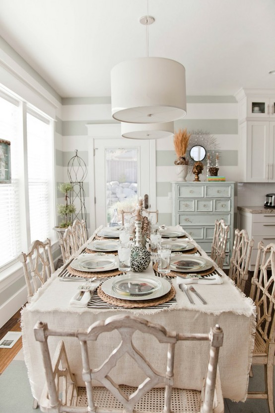 Shabby chic dining rooms - large and beautiful photos. Photo to ...