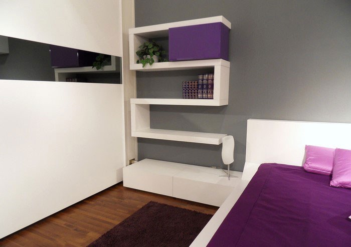 shelving for bedroom walls photo - 2