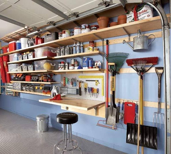 shelving ideas for garage photo - 2