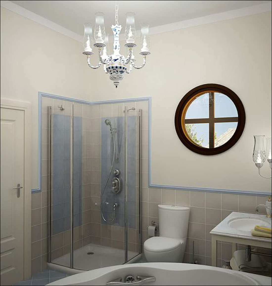shower ideas for small bathroom photo - 1