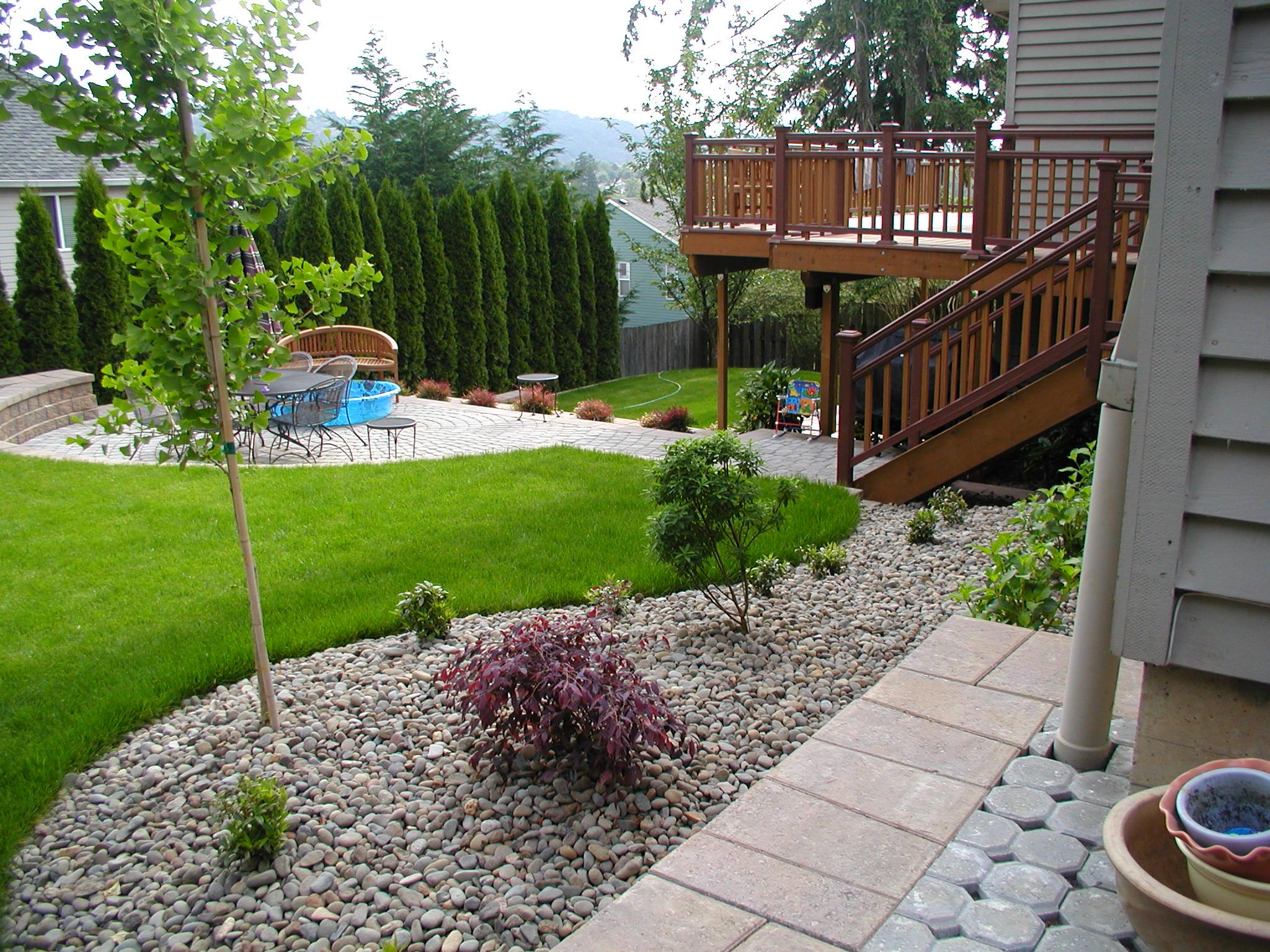 simple backyard design photo - 2