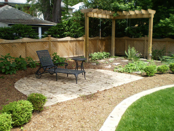Simple backyard landscapes - large and beautiful photos. Photo to select Simple  backyard landscapes | Design your home